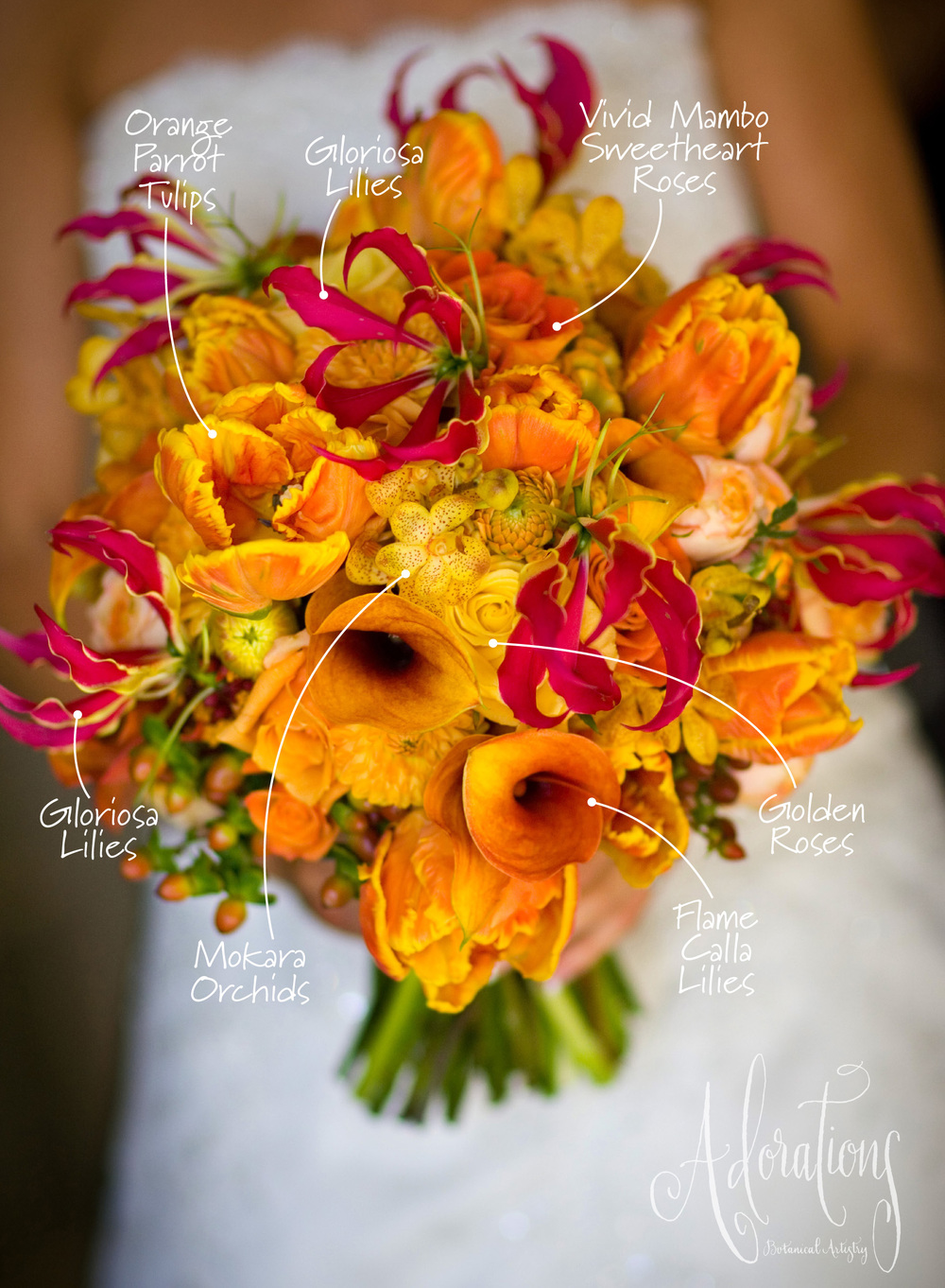 bridal bouquet recipe � adorations botanical artistry