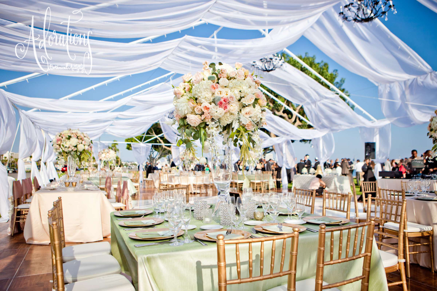 After the momentous u201cbreaking of the glassu201d guests mingled in the fabric-swaged open-air tent set with similar florals in varying sizes some wrapped in ... & Begum u0026 Michaelu0027s San Diego Wedding u2014 Adorations Botanical Artistry