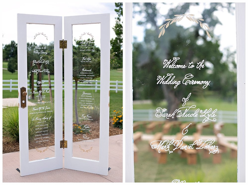 Wedding-Seating-Sign-Calligraphy-French-Doors-5 & Unique Wedding Menu You\u0027ll Love: Calligraphy on French Doors \u2014 The ...