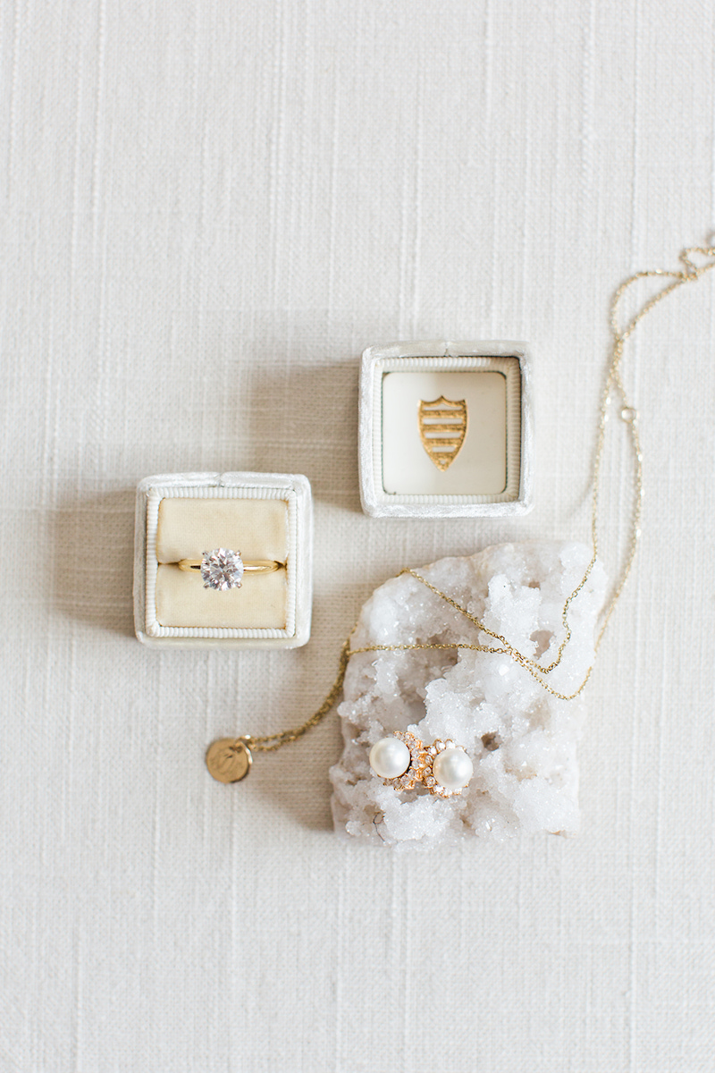 Use a Mrs. Box to help your ring stand out when styling it with other jewelry, styled by The Styled Soiree, photo by  Jackie Cooper