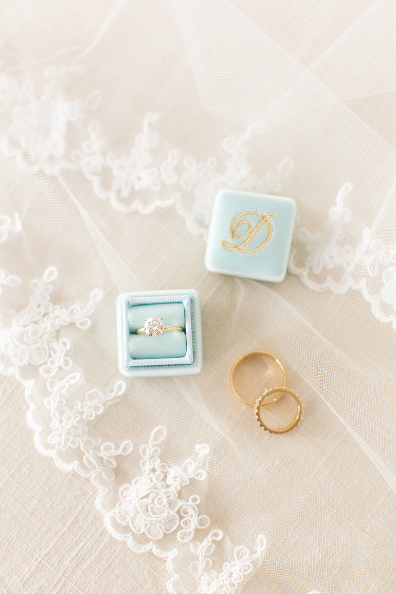 The Mrs. Box comes in beautiful colors, like Robins Egg Blue. Styled by The Styled Soiree, photo by Jackie Cooper Photography