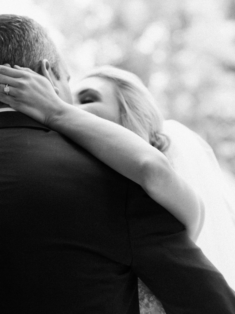 Bride and groom during an emotional first look in Vail, Colorado