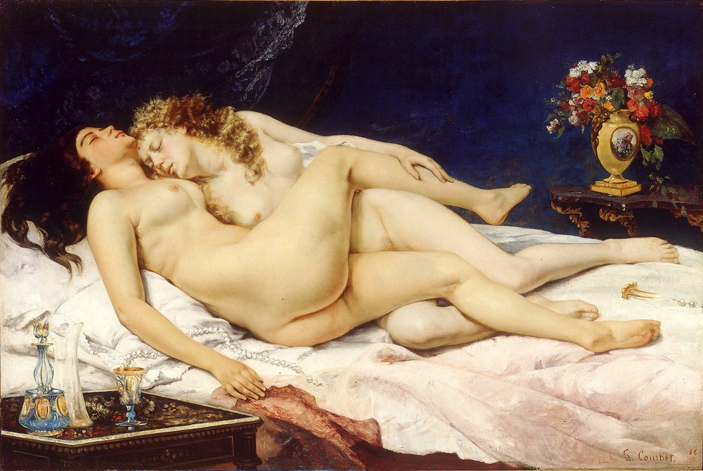 """The Sleepers,"" an 1866 oil on canvas in the Petit Palais in Paris, was created by Gustave Courbet for Khalil Bey. It's a great work of art. But is it also an example of male prurience?"