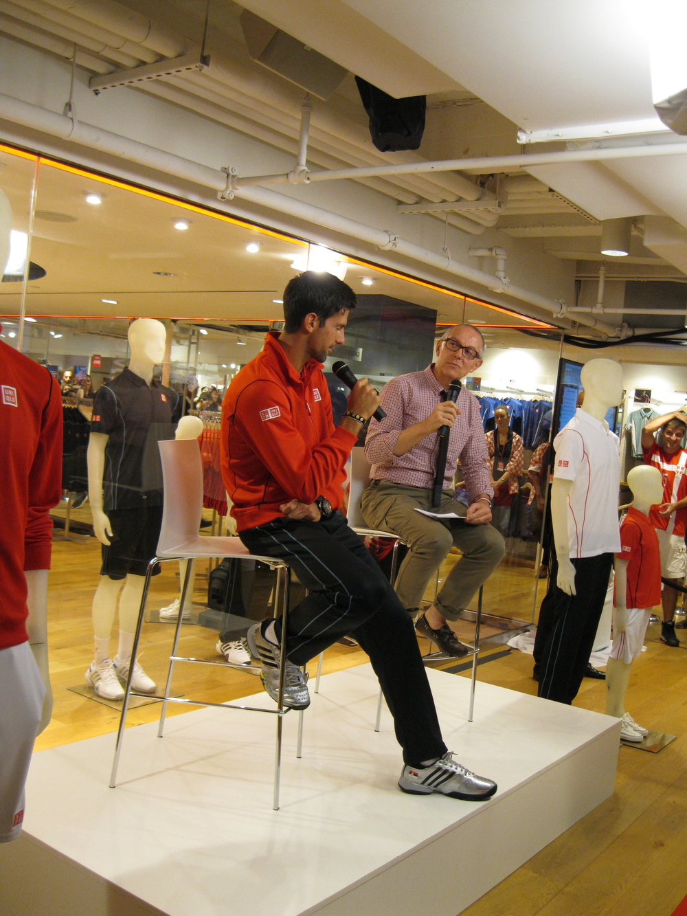 After NYE, Georgette spent another evening with Nole earlier this year at this UNIQLO opening.