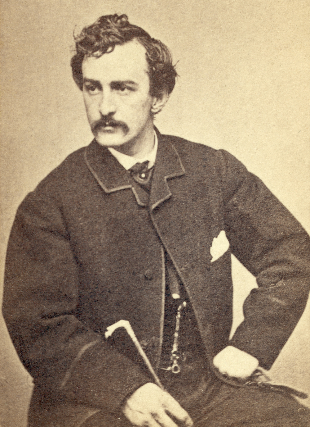 John   Wilkes   Booth in a photograph by Alexander Gardner, circa 1865, the year he assassinated President Abraham Lincoln.