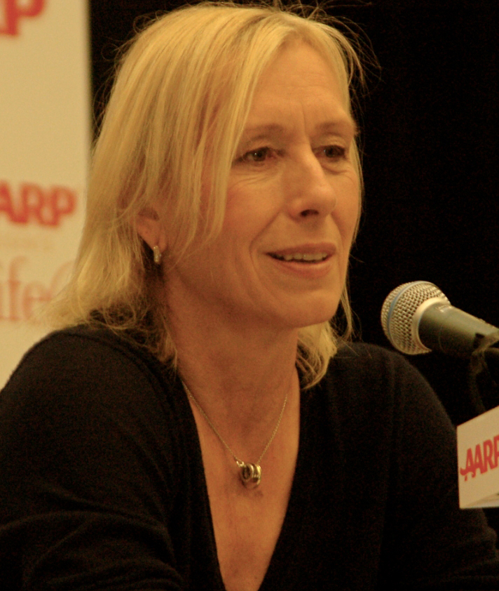 Martina Navratilova. Photograph of Navratilova by Angela George.