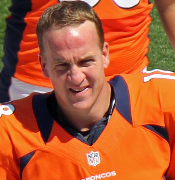 Peyton Manning. Photograph by Jeffrey Beall