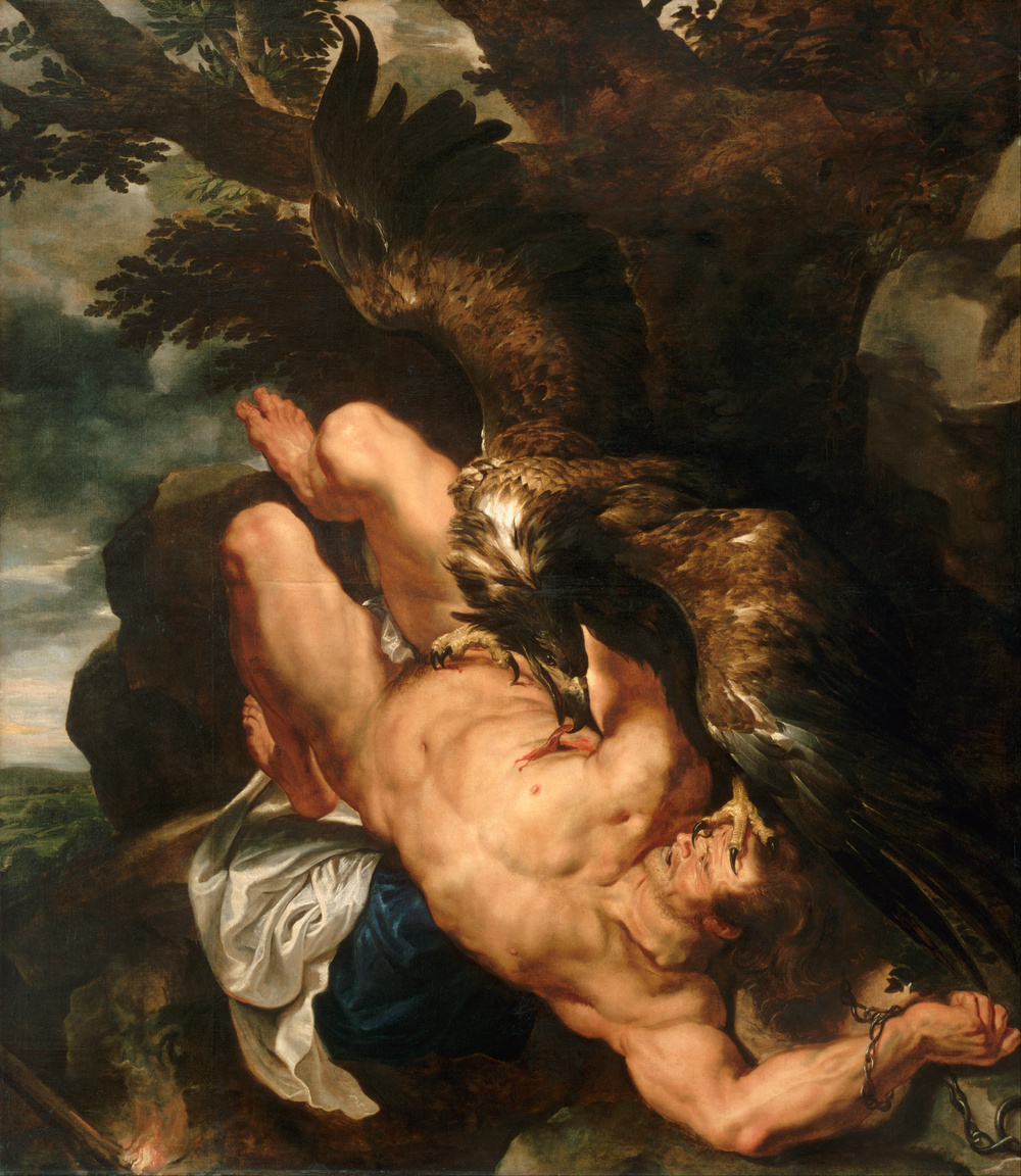 "Peter Paul Rubens' ""Prometheus Bound"" (1618, oil), Philadelphia Museum of Art. It's one of the works used to illustrate Darrin M. McMahon's new ""Divine Fury: A History of Genius."""