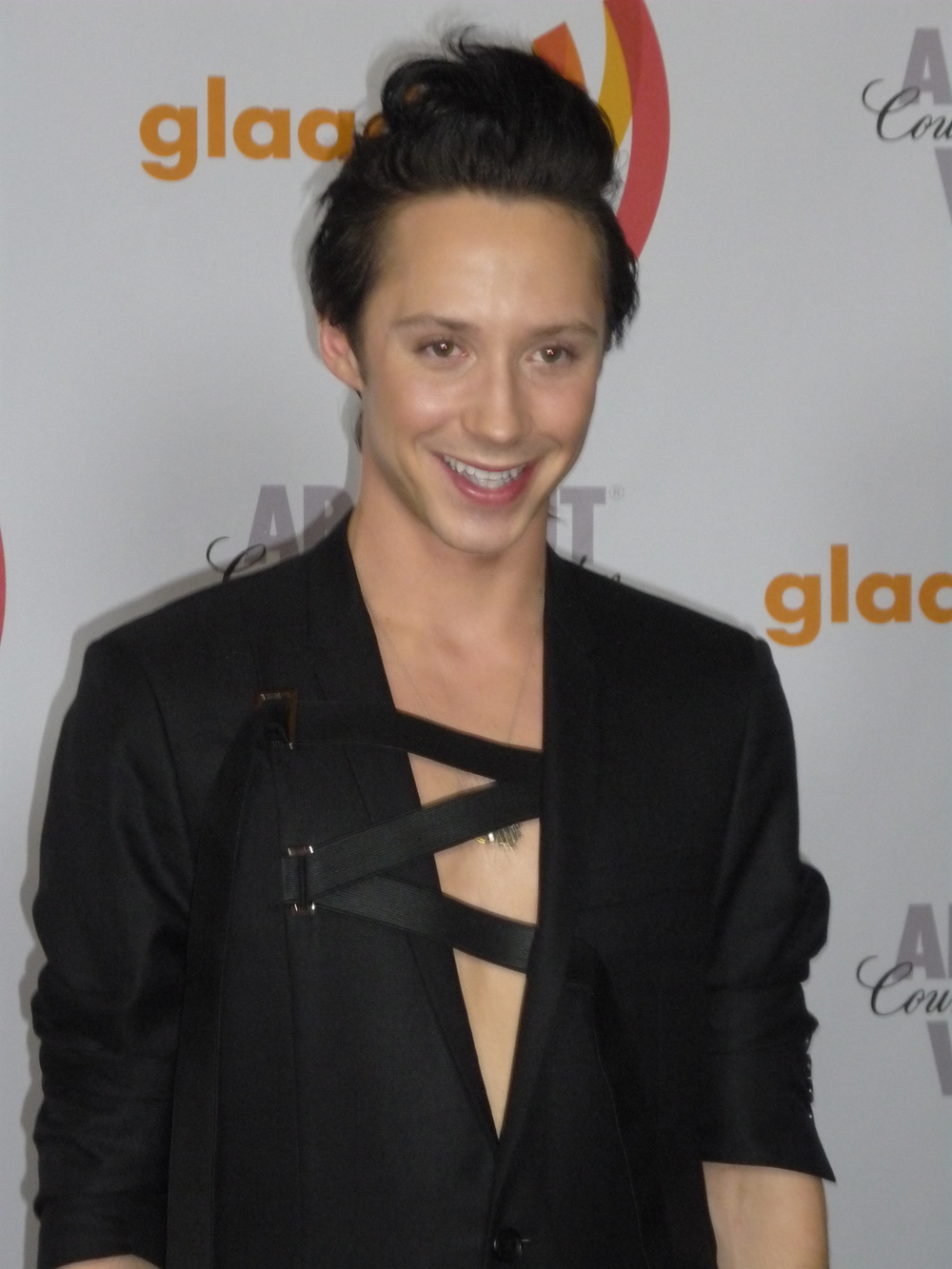 Johnny Weir, at the 2010 GLAAD Media Awards, has never been shy about making a fashion statement. Photograph by Greg Hernandez.
