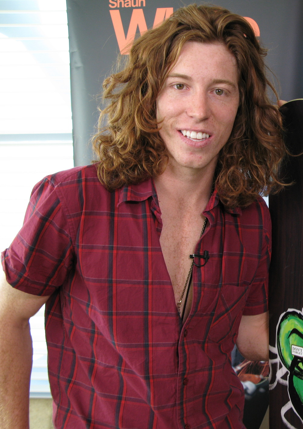 Double gold medalist Shaun White's loss in the half-pike at the Sochi Games had some fans speculating if like Samson he lost strength when he cut his famous mane. Photograph by Veronica Belmont.