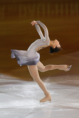 Yuna Kim at the 2010 World Championship. Photograph by David W. Carmichael.