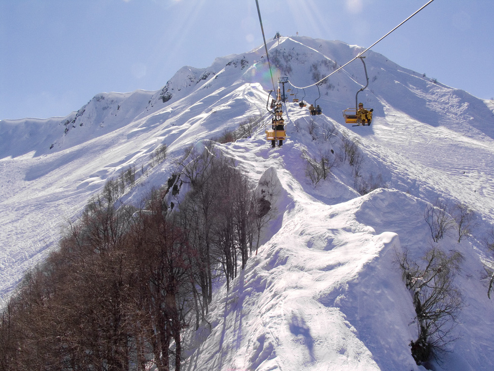 Roza Khutor, site of the alpine center for the Sochi Games
