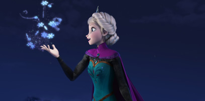 "In ""Frozen,"" Elsa embraces her magical powers as she sings ""Let It Go."""