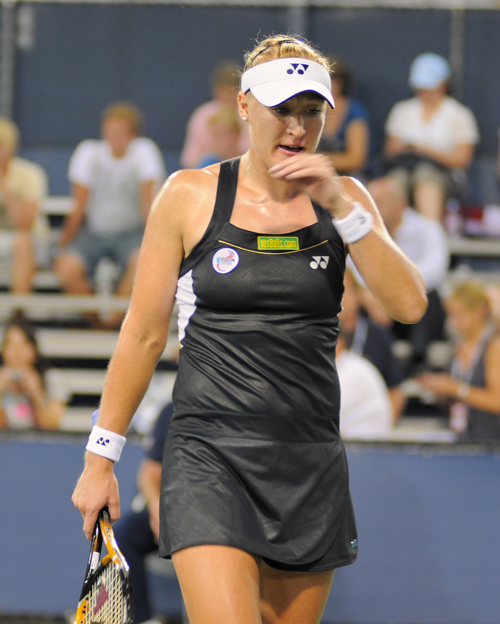 Elena Baltacha at the US Open in 2010. Photograph by Chris Mesiano.