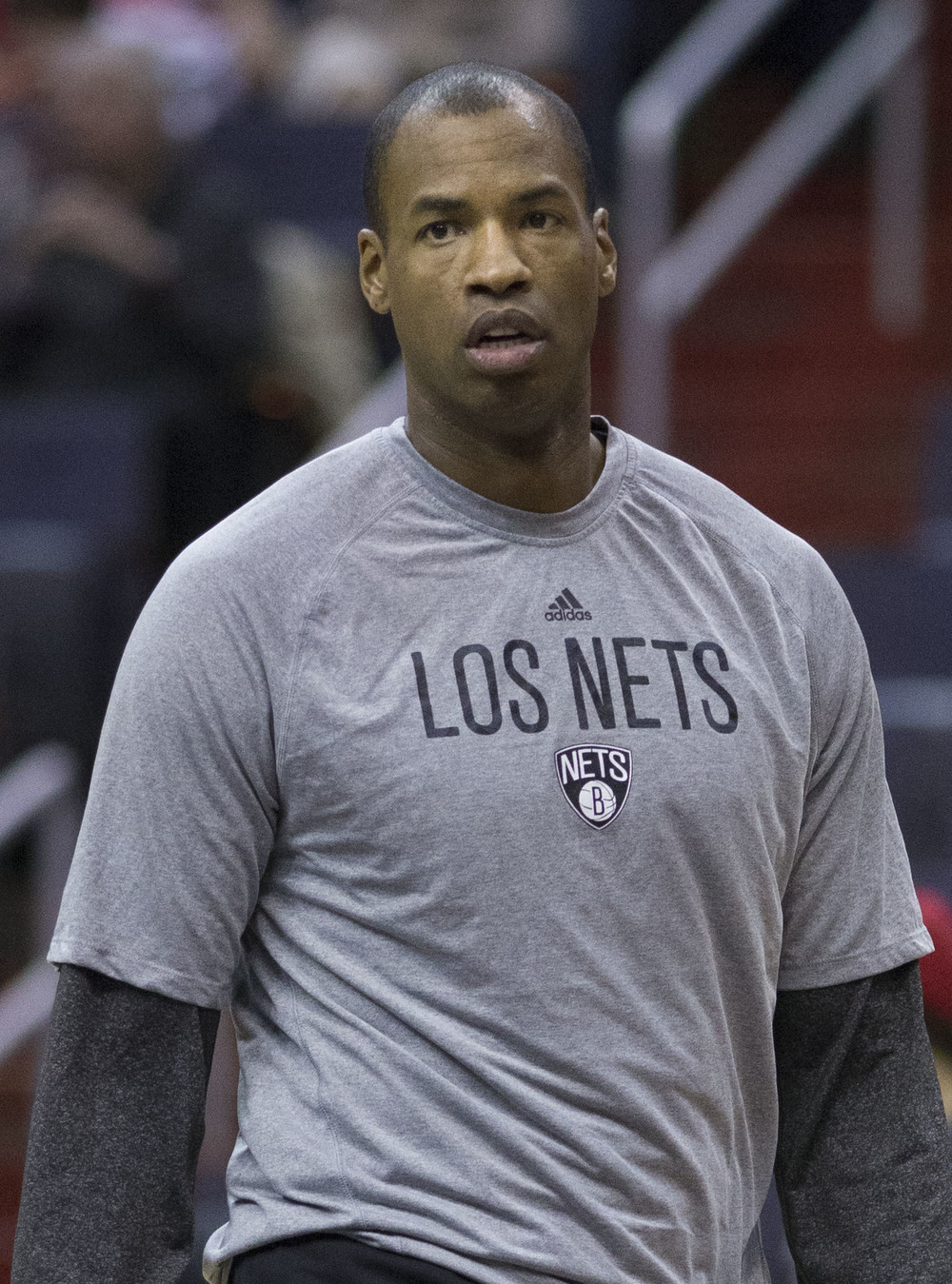 Jason Collins, center for the Brooklyn Nets, on March 15. Photograph by Keith Allison