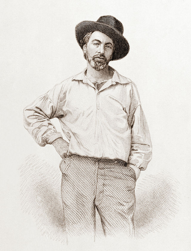 Brandon Ambrosino's favorite picture of Walt Whitman, Samuel Hollyer's surprisingly modern 1854 steel engraving of a lost daguerreotype by Gabriel Harrison. Smithsonian Institution, National Portrait Gallery.