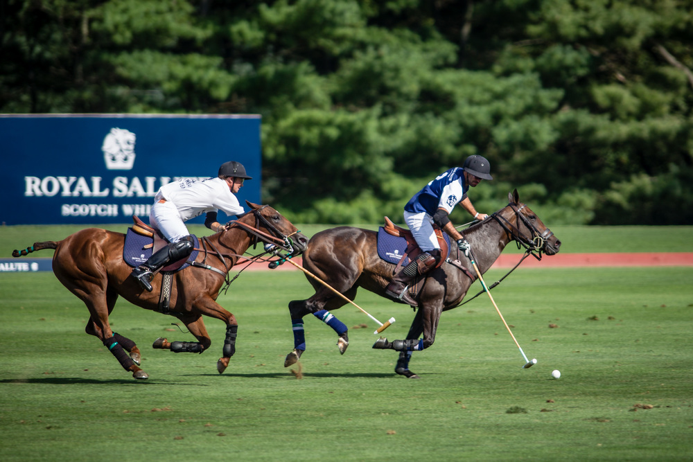 Players during the 2013 Royal Salute Jubilee Cup. Photograph by Dan Burns, courtesy Greenwich Polo Club.