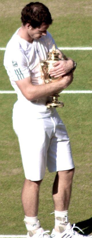 Andy Murray winning Wimbledon a long year ago.