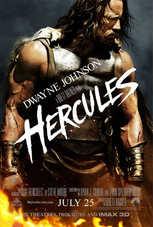 """Poster for the new """"Hercules"""" movie, starring Dwayne Johnson (aka The Rock)"""