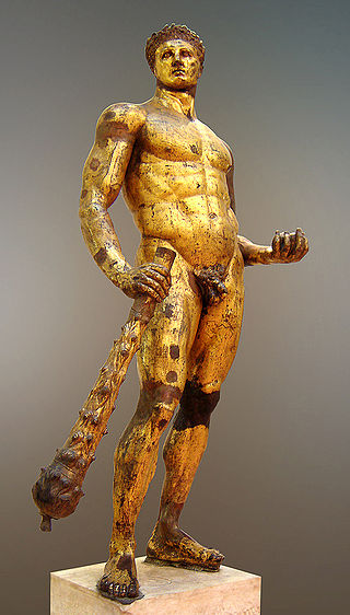 The 11th of Hercules' 12th Labors was to capture the golden apple of the Hesperides (and apparently look good doing it). Gilded bronze, 2nd century B.C., Musei Capitolini.