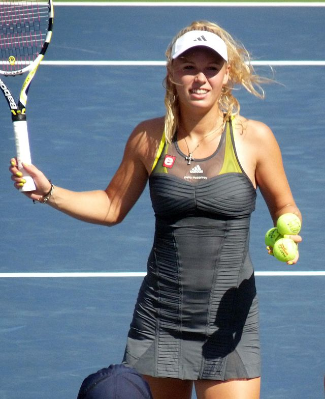 Caroline Wozniacki in 2010 at the US Open, where she's now on the comeback trail.