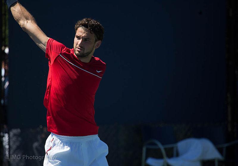 Grigor Dimitrov at the 2012 US Open. Rrrrrr. Photograph by Ian Gampon