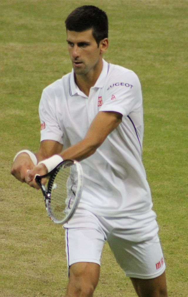 Novak Djokovic, this year's Wimbledon champ and subject of a new book that you won't find at Barnes & Noble