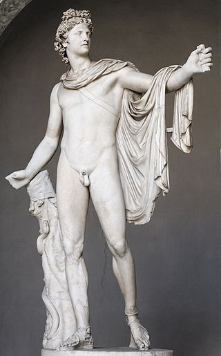 The Apollo Belvedere, a Roman copy of the Greek original, 330-320 B.C.
