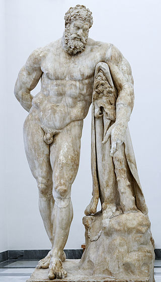 The Farnese Hercules, a Roman copy of the original by Lysippos, who was the only sculptor Alexander the Great allowed to sculpt his image