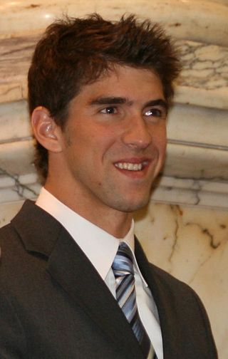 Michael Phelps being honored by his native Maryland in 2009