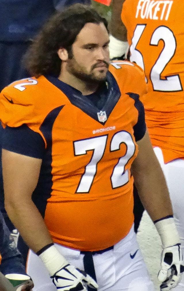 John Moffitt as a Denver Bronco. Photograph by Jeffrey Beall.