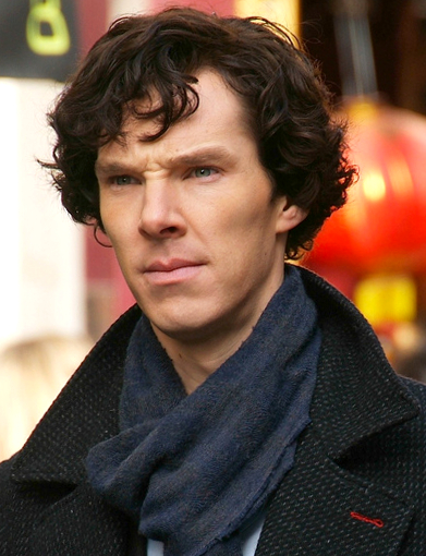 Benedict Cumberbatch, seen here as Sherlock Holmes, and his co-star Martin Freeman have inspired a lot of shipping.   And no, they don't work for Fed Ex.