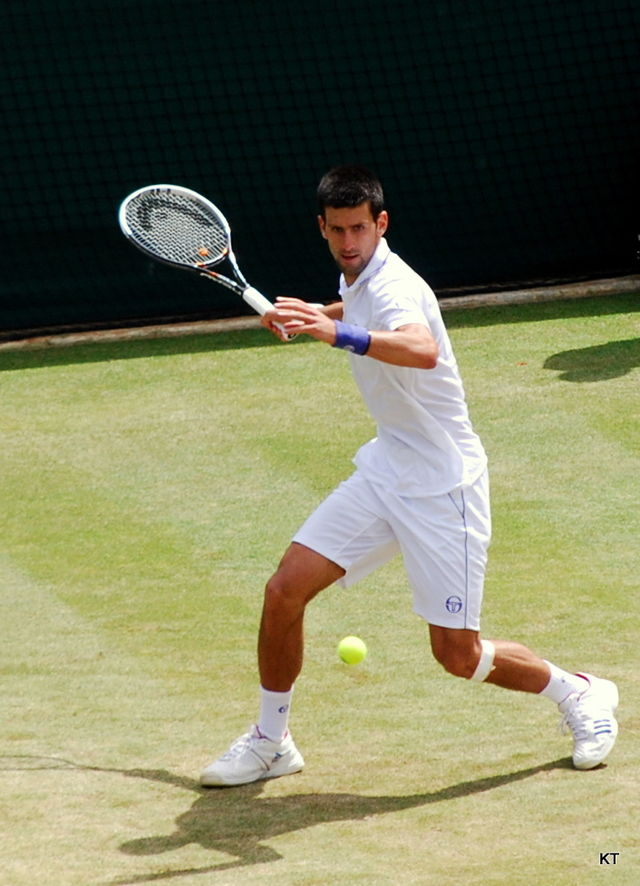 Novak Djokovic at Wimbledon in 2011, the moment when his holistic approach to life took him to the No. 1 ranking.