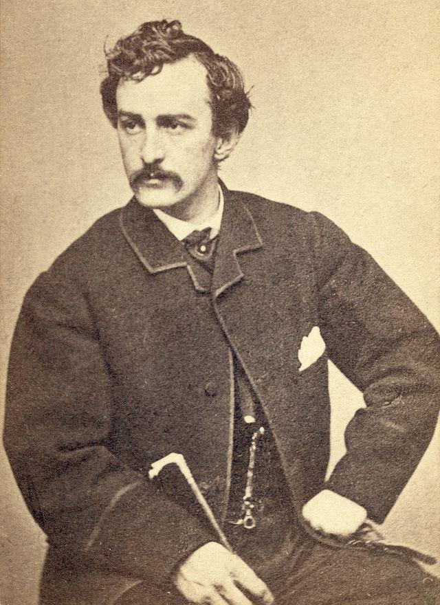 John Wilkes Booth circa 1865. Photograph by Alexander Gardener. Courtesy Library of Congress.