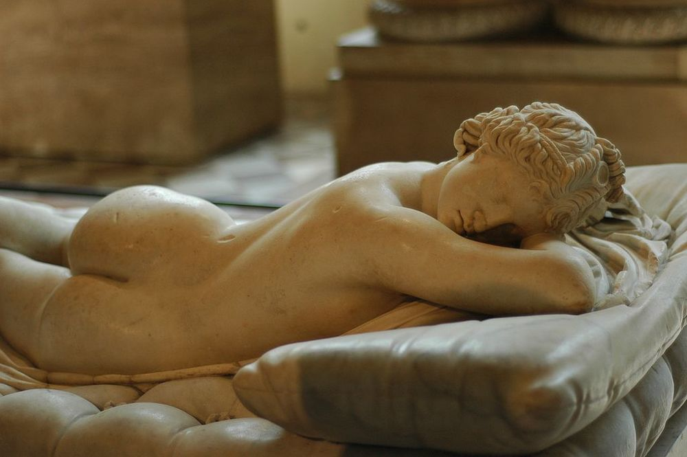 The Borghese Hermaphroditus, a 2nd-century Roman copy of a Greek work. Musée du Louvre.