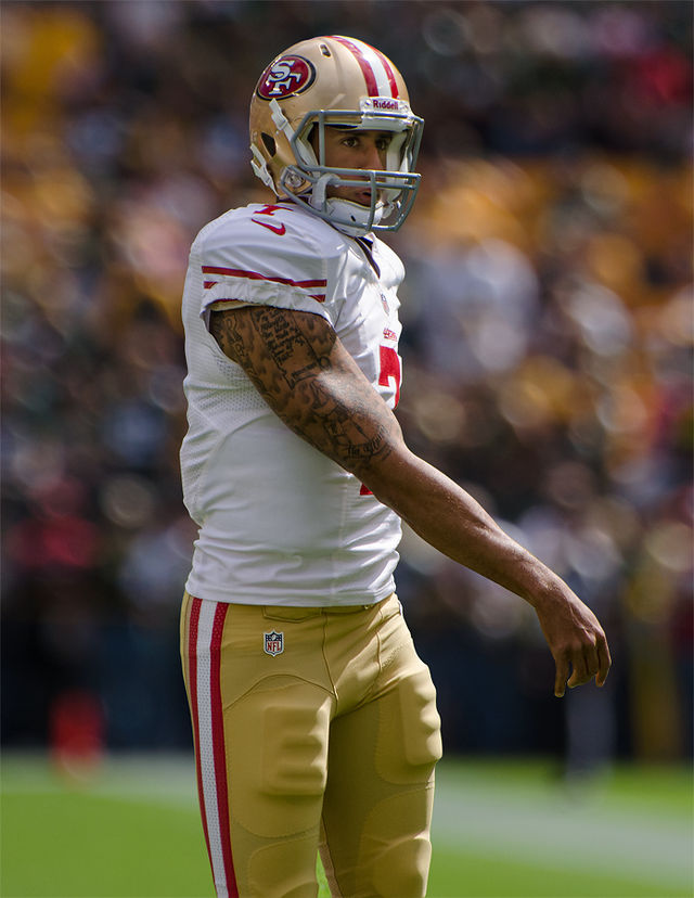 Colin Kaepernick. Photograph by Mike Morbeck.