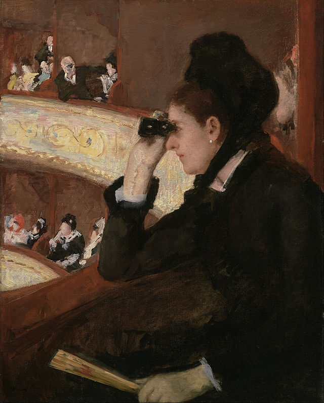 "Sports Illustrated's controversial American Pharoah cover – a photograph of people taking photographs of the Triple Crown finish – has nothing on Mary Cassatt's ""In the Loge"" – an 1878 oil in the Museum of Fine Arts, Boston that is the quintessence of postmodernism."