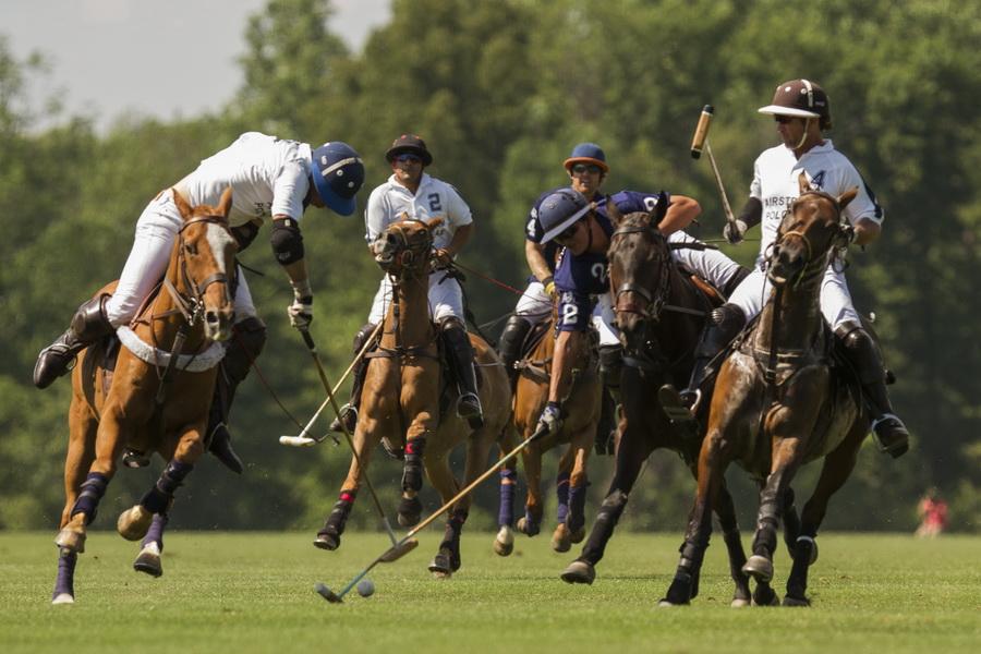 Polo action at Greenwich Polo Club on July 14, 2015.Photo credit Katerina Morgan.