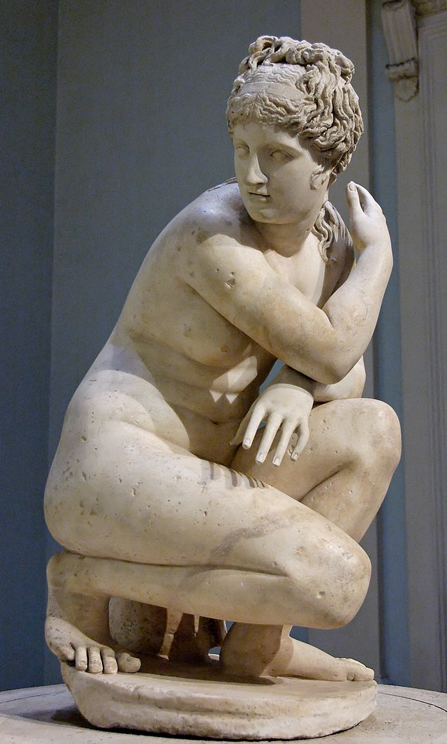 "Naked Aphrodite or ""Lely's Venus,"" marble Roman copy of Greek original, second century, British Museum."