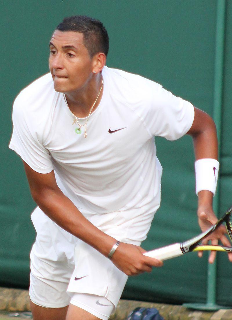 Nick Kyrgios in action at Wimbledon last year.