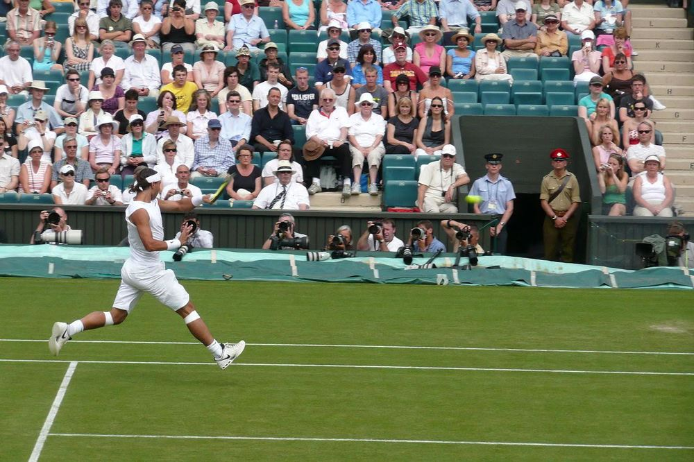 Oh, for the days: Rafael Nadal in action at Wimbledon in 2008.