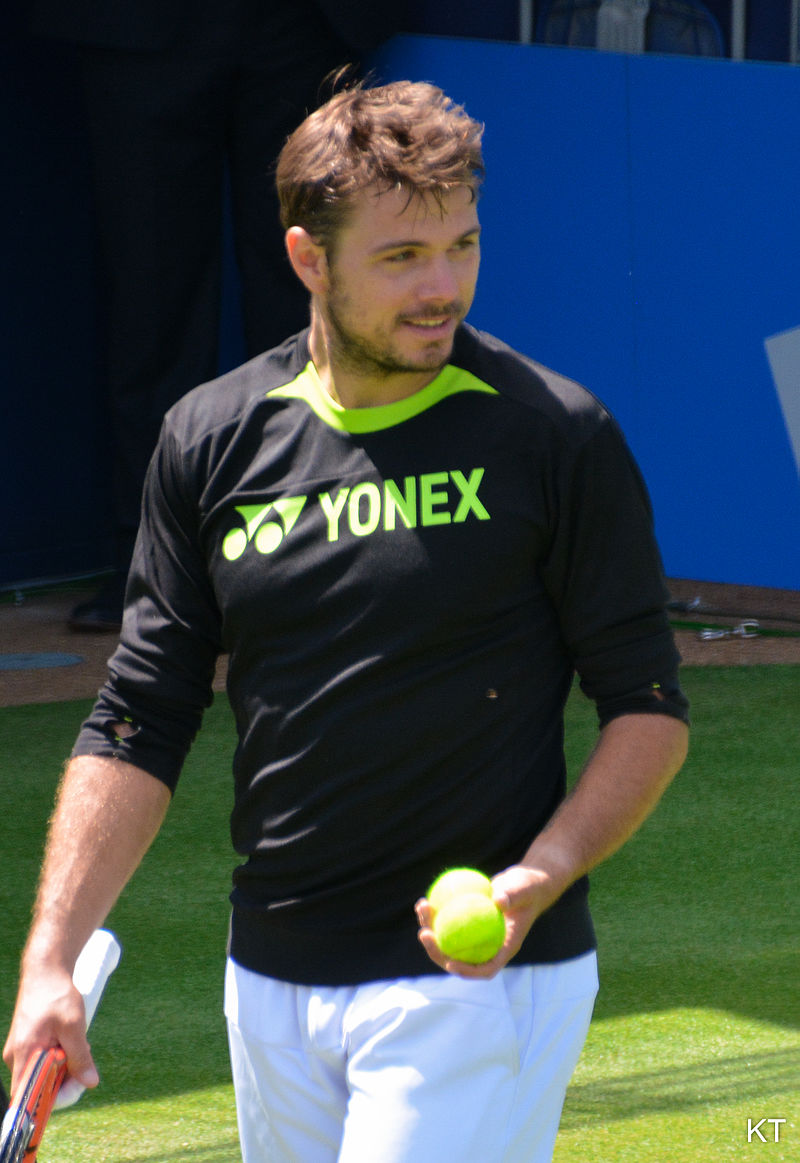Sam Wawrinka at the Aegon Championships, Queen's Club, England, before Wimbledon this year.