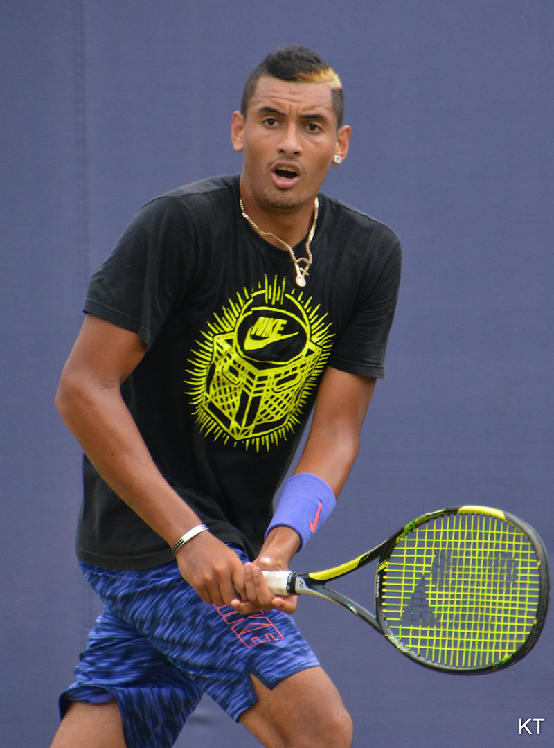 Nick Kyrgios, who maybe should confine his colorfulness to his hairstyles.