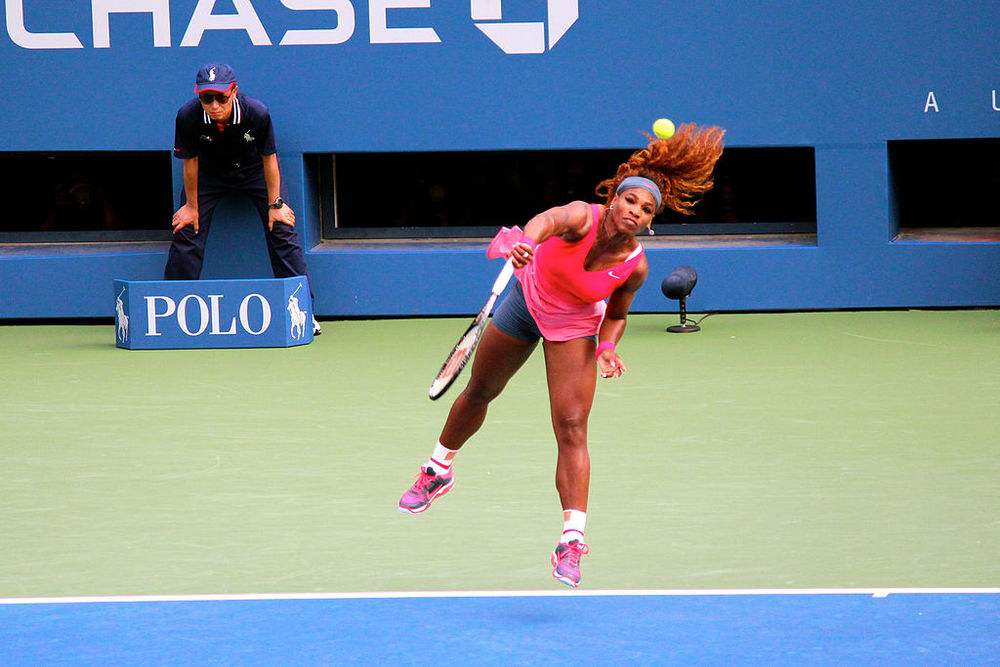 Serena Williams during her successful bid for a fifth US Open title. It was not meant to be this year.