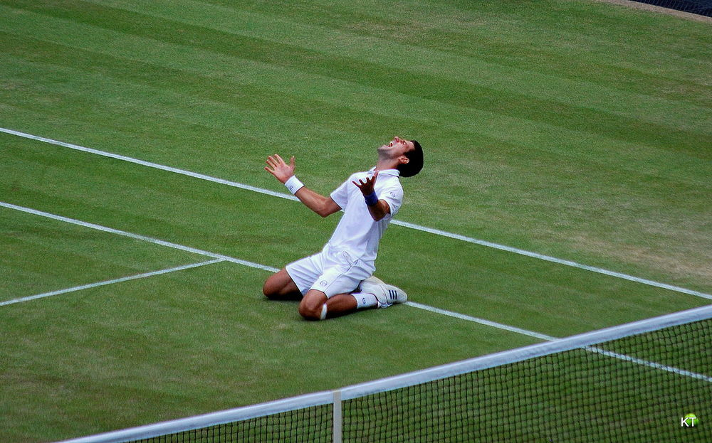 Novak Djokovic becomes No. 1 at Wimbledon, 2011. He locked up that ranking for this year with his US Open win over Roger Federer