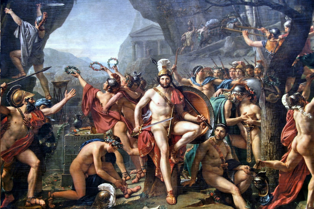 "Jacques-Louis David's ""Leonidas at Thermopylae"" (1814)"