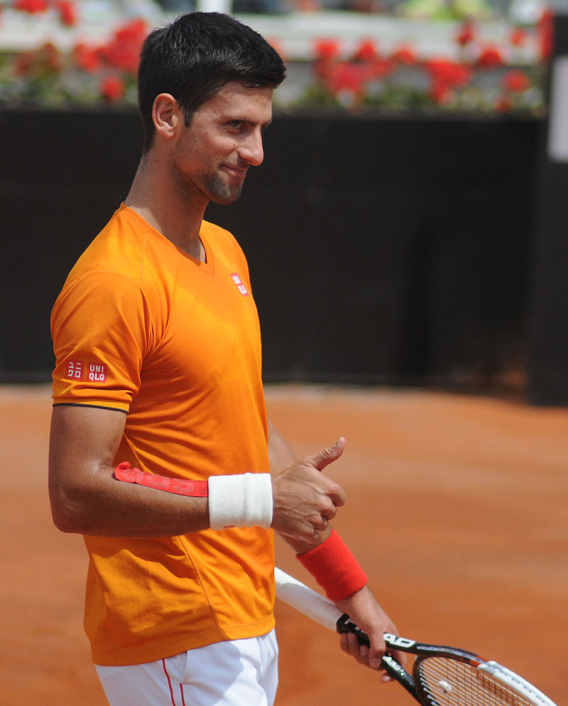 Novak Djokovic at the 2014 Internazionali BNL d'Italia