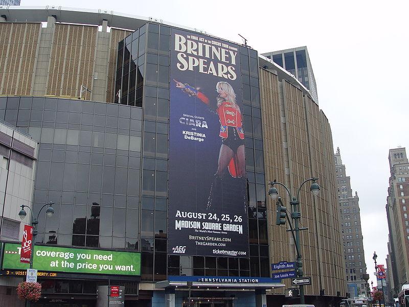 Madison Square Garden's façade in 2009.