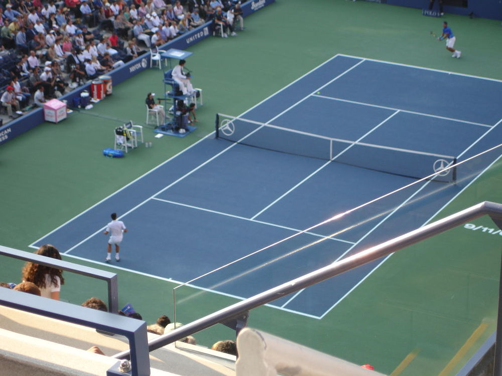 Rafael Nadal and Novak Djokovic in the US Open final, 2011, which Nole won. Theirs is the only tennis rivalry that has involved meetings in the finals of all four of the Slams.