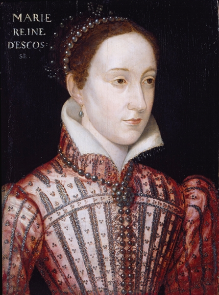 Portrait of Mary, Queen of Scots, after François Clouet (circa 1559), oil on oak panel, Victoria and Albert Museum